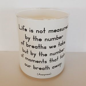 Quoteable candle